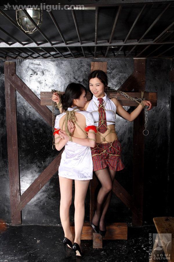 [Ligui丽柜]2009.07.24 由美尤丽的绳艺比拼,流露魅力!model 尤美 & 尤丽[45P/28M]
